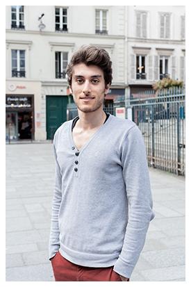 Nicolas, 23 ans, comédien en herbe